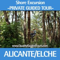 Elche 5 hours private shore excursions guided tour, private tour guide alicante, elche