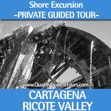 SHORE EXCURSION PRIVATE GUIDED TOUR RICOTE VALLEY MURCIA CARTAGENA