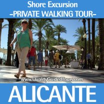 Alicante, 3h private shore excursions walking tour