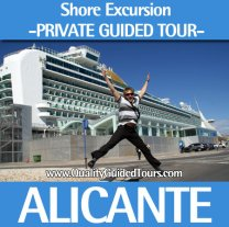 Alicante, 4h private shore excursions guided tours