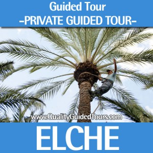 "Elche, 4 hours private guided tour, Elche ""Palm tree groove"""