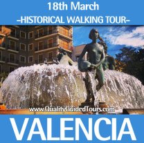 historical walking tour fallas valencia