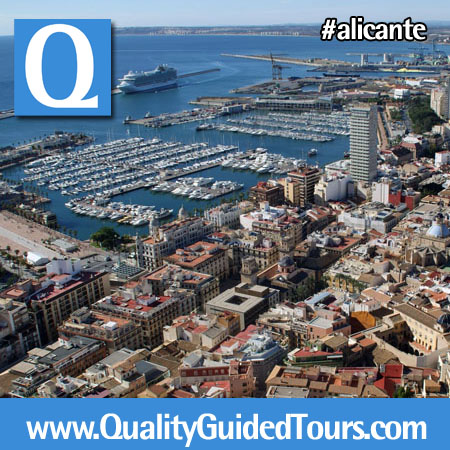 Santa Barbara Castle views, Alicante harbour.