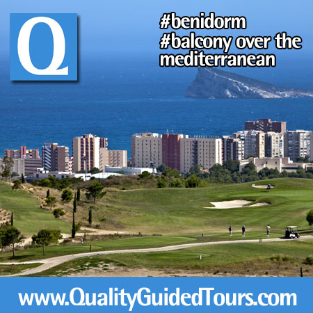 The small harbour of Benidorm