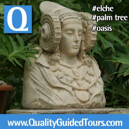 Dama de Elche at priest garden, Elche