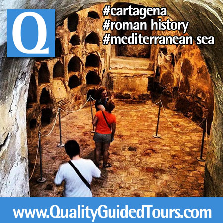 Punic Walls Interpretation Center Cartagena Spain, private tour guide in cartagena