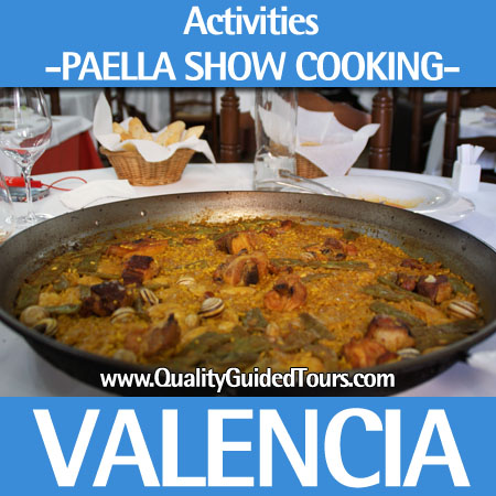 Paella show cooking valencia