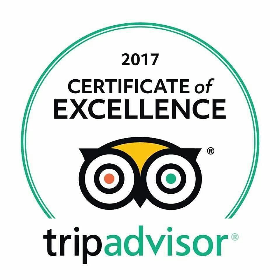 Tripadvisor certificate of excelence 2017