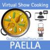Virtual paella show cooking