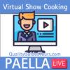Virtual paella show cooking live